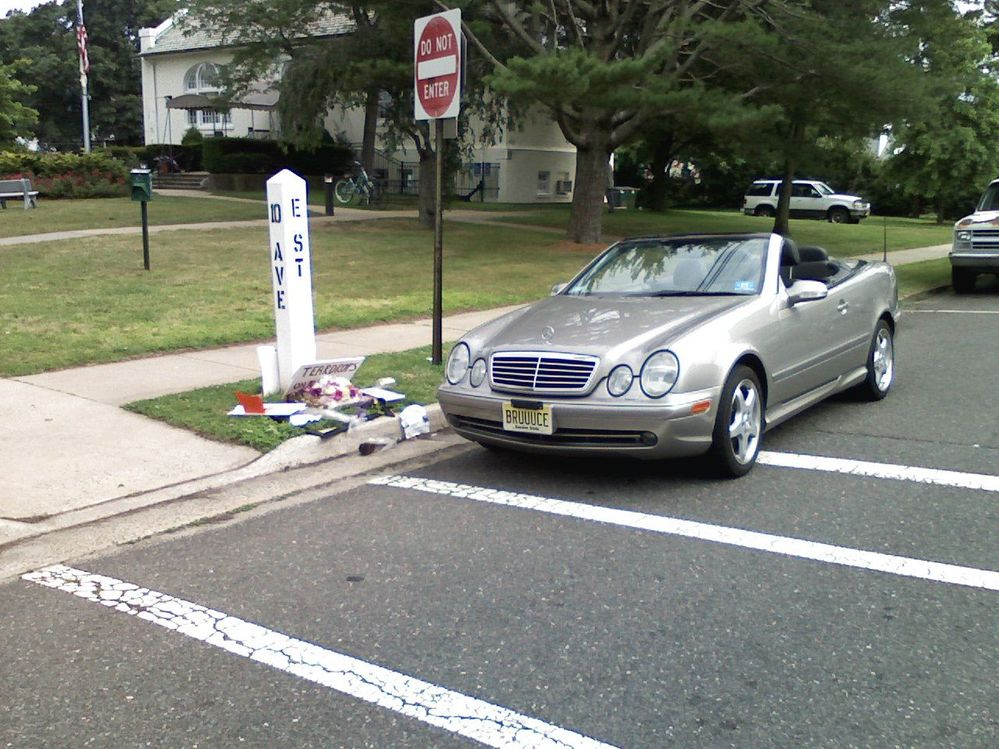 E St. and 10th Ave., Belmar NJ after passing of the Big Man