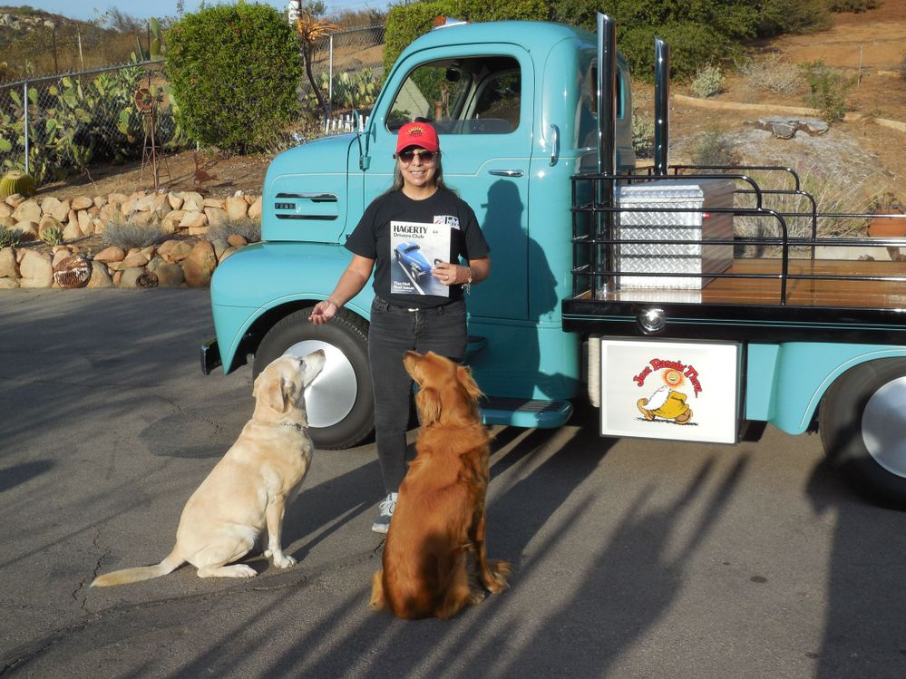 Home with dogs and Hagerty Drivers Magazine