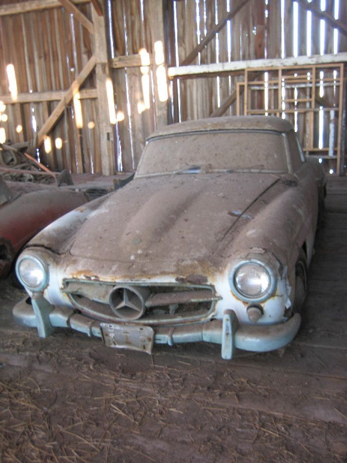 1969 Stored in barn 1959 Merceded Benz.jpg