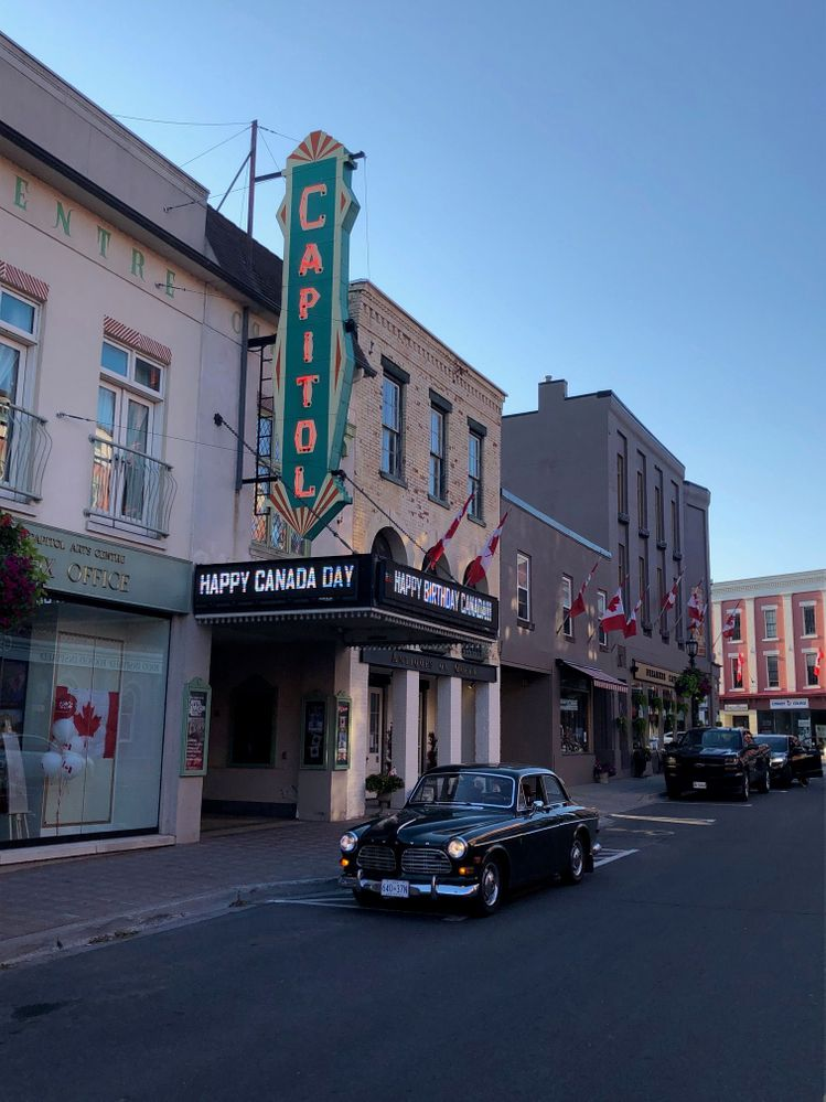 "When it opened in August of 1930, the Capitol Theatre located in Port Hope, Ontario, was the first theatre in Southern Ontario to feature talking movies. Today, it is one of eight fully restored ""atmospheric movie theatres"" still in operation in Canada and the only one in Ontario. The Capitol is a National Historic Site and is still used for performances and movies some 90 years later (this year). The first movie it screened was  Queen High starring Charlie Ruggles and Ginger Rogers. #CapitolTheater #PortHope #SunsetViews @ Capitol Theatre Port Hope"