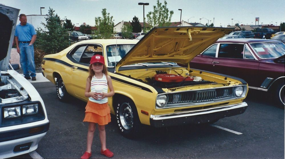 6-year-old me with Dad's 1972 Duster