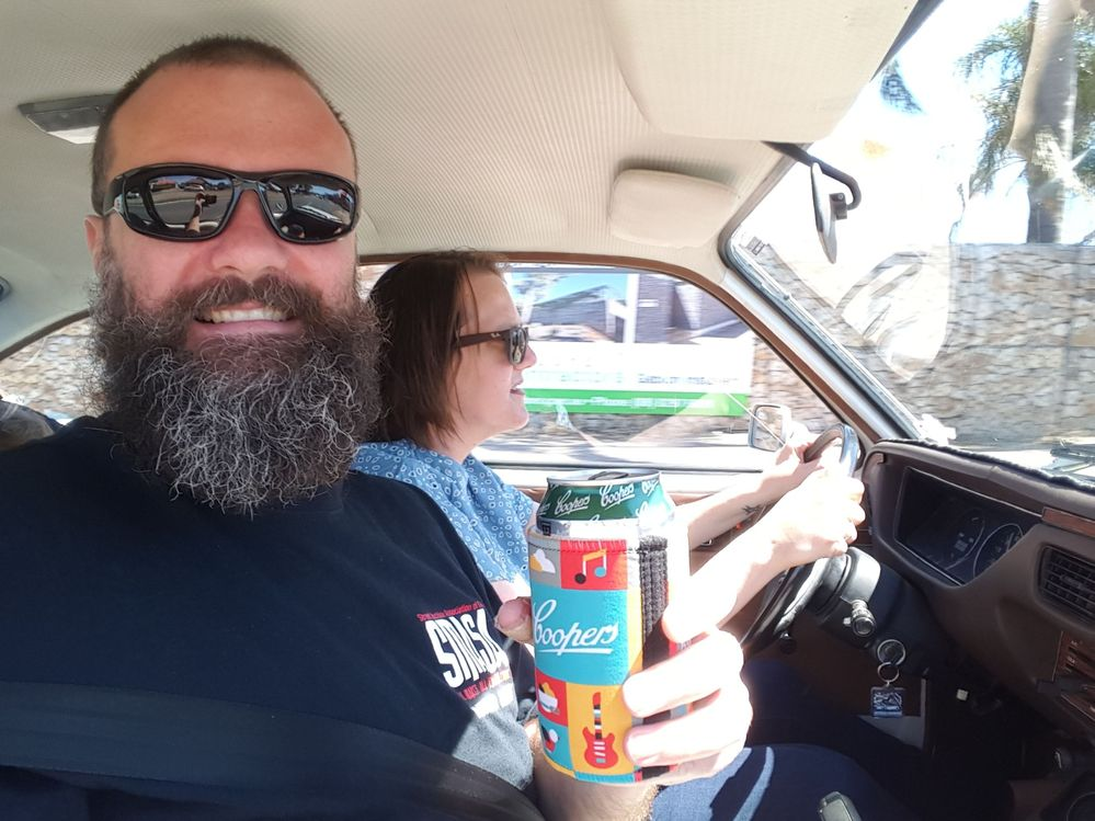 09 - Buick Opel by Isuzu - Sarah driving with Dave drinking beer.jpg