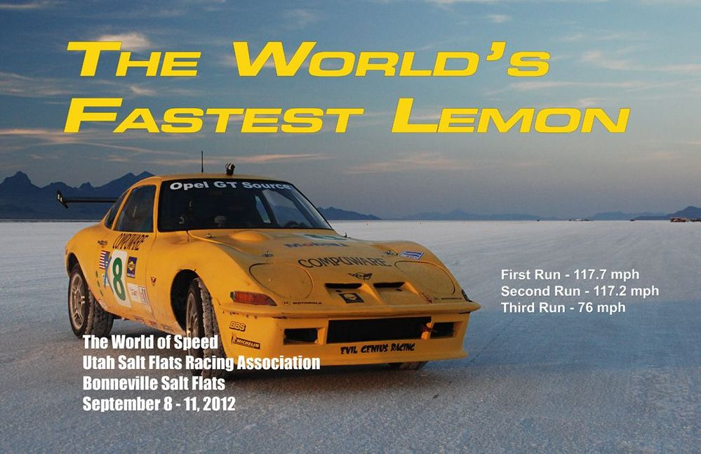 World's Fastest Lemon!