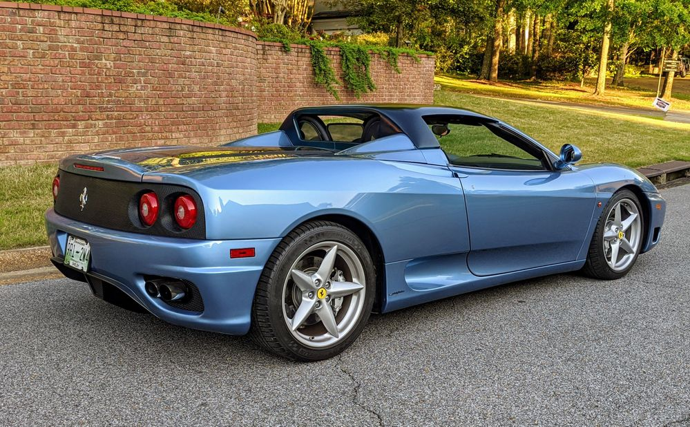 Gated Ferrari 360 Spider with custom hardtop