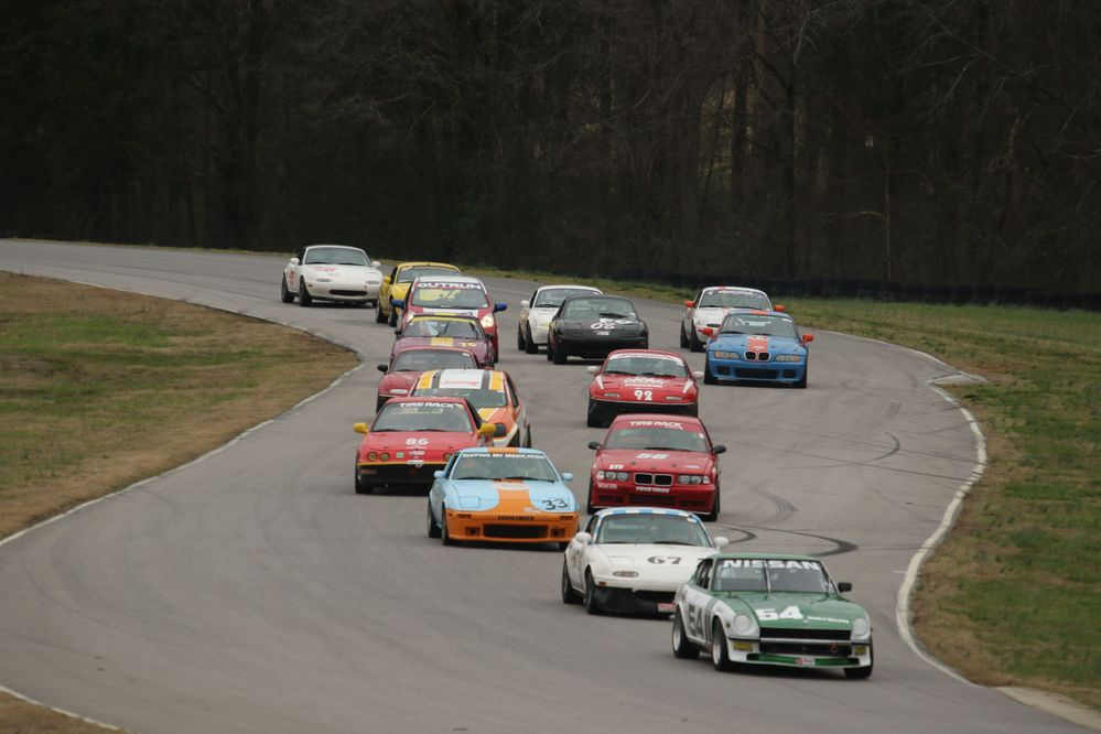 Start of Sunday race at the March VIR SCCA event