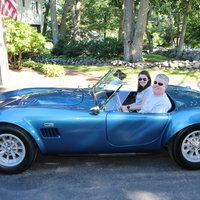 With my daughter Elizabeth. ERA Cobra 427 street version
