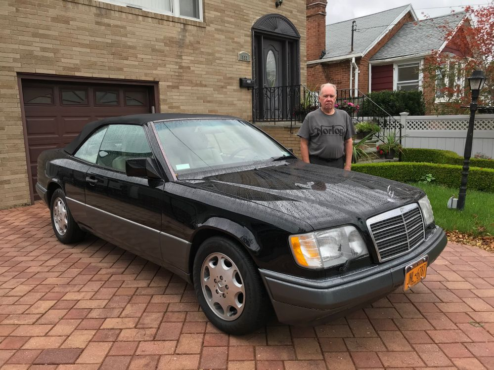 Me and my 1995 Mercedes-Benz E320 Cabriolet on a rainy Sunday in Rockaway, NY
