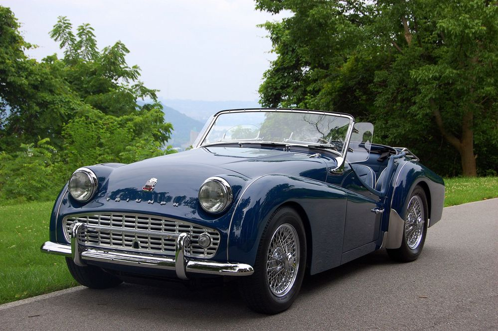59 TR3A in Winchester Blue