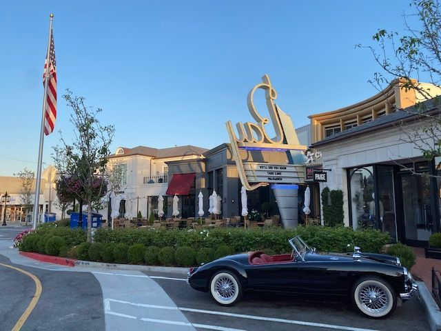 Drive at Dawn Babe outside the iconic Bay theaters in Pacific Palisades Village